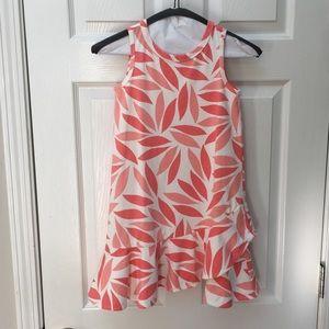 J Crew Crewcuts cotton floral/leaf dress 7